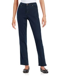 Karl Lagerfeld Straight Leg Stretch Jeans Indigo Wash