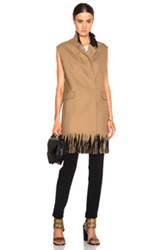 3.1 Phillip Lim Long Vest With Fringe In Neutrals