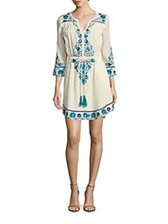 Kas Cotton Embroidered Dress Off White