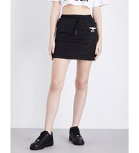 Boy London Drawstring Quilted Mini Skirt Black