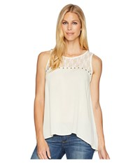 Rock And Roll Cowgirl Tank Top B5 6077 Natural Sleeveless Beige