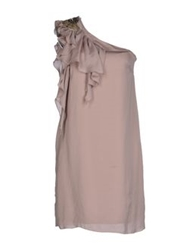 Gold Case Sogno Short Dresses Dove Grey