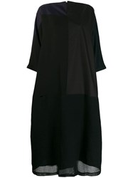 Daniela Gregis Oversized Day Dress Black
