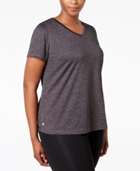 Ideology Plus Size Essential V Neck Performance T Shirt Only At Macy's Noir