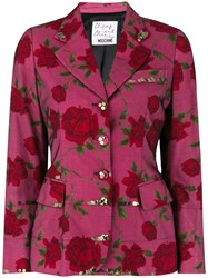Moschino Vintage Floral Fitted Blazer Multicolour