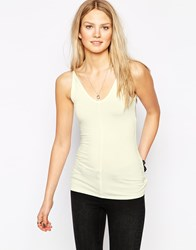 Twenty Basic V Neck Tank Top Yellow