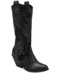Carlos By Carlos Santana Axel Studded Western Boots Women's Shoes Black
