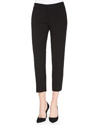 Alice Olivia Stacey Slim Cropped Trousers Black