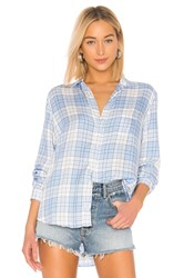 Frank And Eileen Limited Edition Button Down Blouse Blue