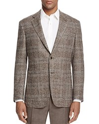 Canali Plaid Classic Fit Sport Coat Brown