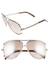 Chloe Women's 'Isidora' 61Mm Aviator Sunglasses Rose Gold Peach Rose Gold Peach