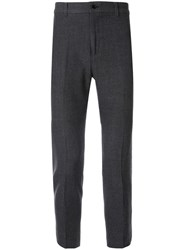 Loveless Cropped Chino Trousers Grey