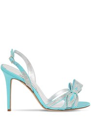 Alessandra Rich 105Mm Embellished Satin Sandals Turquoise