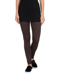 Twin Set Simona Barbieri Trousers Leggings Women Cocoa