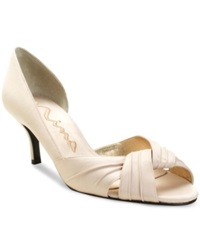 Nina Culver Evening Sandals Women's Shoes Ivory