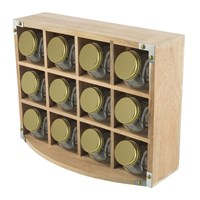 The Kitchen Pantry Acacia Wood Spice Rack
