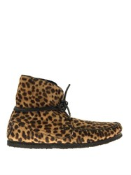 Isabel Marant Flavie Calf Hair Moccasin Ankle Boots