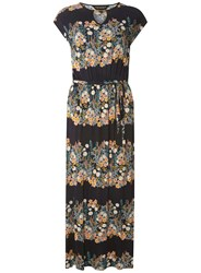 Dorothy Perkins Navy Floral Jersey Maxi Dress Blue