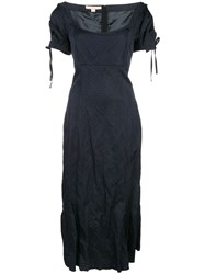 Brock Collection Fitted Midi Dress Blue