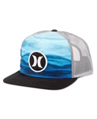 Hurley Men's Block Party Flow Graphic Print Snapback Hat Ice Cube Blue