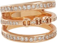 Hoorsenbuhs Women's Diamond And Rose Gold Asset Ring Colorless
