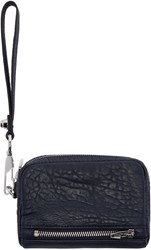 Alexander Wang Navy Leather Large Fumo Wallet