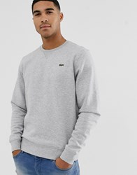Lacoste Sport Logo Crew Neck Sweat In Grey