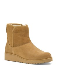 Ugg Kristin Sheepskin Wedge Ankle Boots Tan