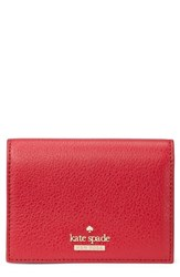 Kate Spade New York Blake Street Annabella Leather Card Case Red Heirloom Red