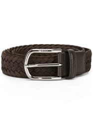 Tod's Interlaced Leather Belt Brown