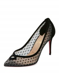 Christian Louboutin Neoalto Lace 85Mm Red Sole Pump Black Version Black