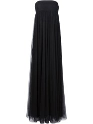 Vera Wang Strapless Empire Waist Gown Black