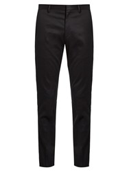 Paul Smith Slim Leg Tailored Cotton Blend Chinos Navy