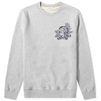 Alexander Mcqueen Skull Ivy Embroidered Crew Sweat Grey