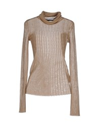 Blue Les Copains Knitwear Turtlenecks Women Camel