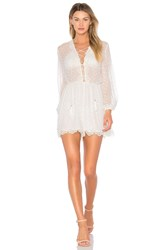 Zimmermann Oleander Lattice Romper White