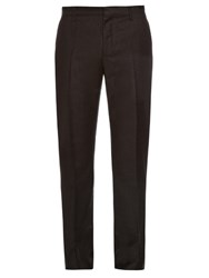 Lanvin Slim Leg Tailored Wool Trousers Grey