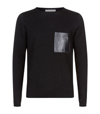 Sandro Pocket Detail Jumper Male Grey