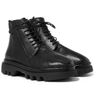 Marsell Full Grain Leather Boots Black