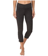 Carve Designs Baya Capri Charcoal Heather Women's Capri Gray