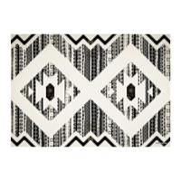 Hibernica Kathmandu Striped Vinyl Placemat Black White