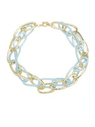 Design Lab Lord And Taylor Chain Link Necklace Blue