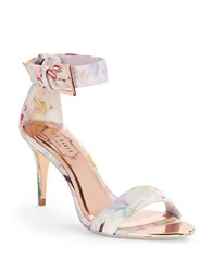 Ted Baker Blynne Floral Open Toe Sandals Multi Colored