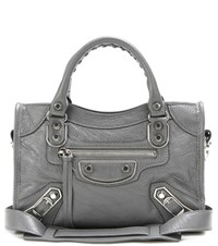 Balenciaga Classic Metallic Edge City Leather Tote Grey