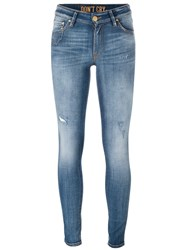 Don't Cry Stonewash Skinny Jeans Blue
