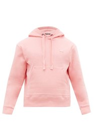 Acne Studios Ferris Face Logo Patch Cotton Hooded Sweatshirt Pink