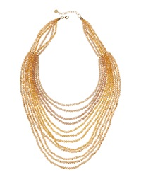 Nakamol Layered Bead Necklace Gold