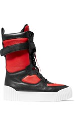 Marc By Marc Jacobs Paneled Textured Leather High Top Sneakers