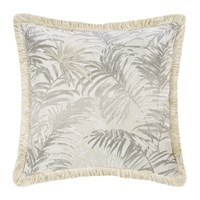 Roberto Cavalli Tropicalia Jacquard Cushion Beige Neutral