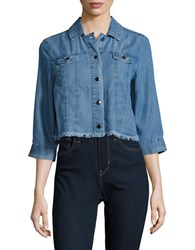 Rafaella Petite Denim Cropped Jacket Light Indigo